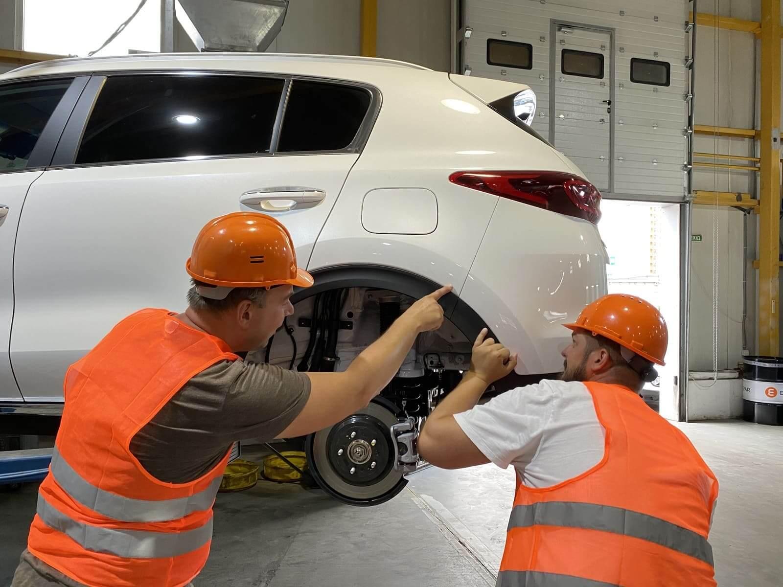 Проверка кузова автомобиля на дефекты